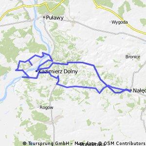 Celejow-Naleczow-Kazimierz-Janowiec-Celejow 75km