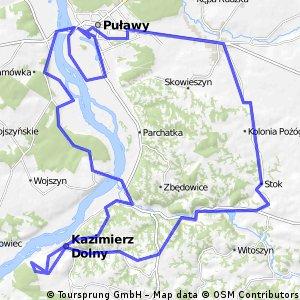 Celejow-Pulawy-Kazimierz-Celejow 60km