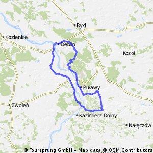 Celejow-Deblin-Pulawy-Celejow 90km