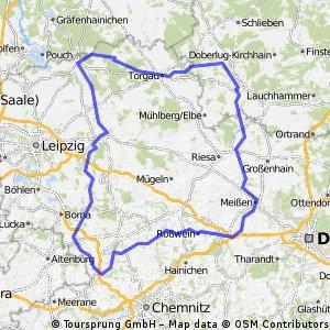 Brevet, 300, 2015, Sachsen - Route I/II
