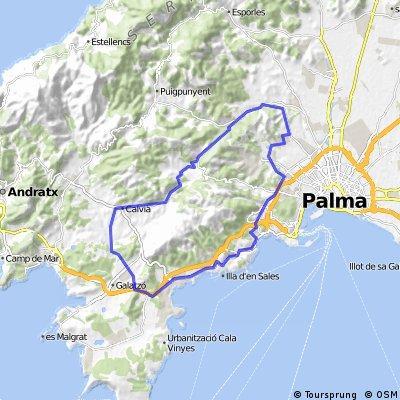Mallorca - Westlich von Palma 40km Runde