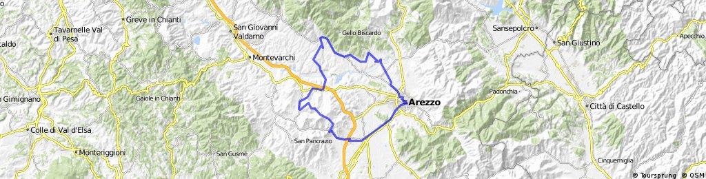 Ponticino - Borro - Arezzo - Civitella - Pieve a Presicano - Pergine