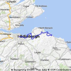 Dunbar hilly loop and back to edinburgh