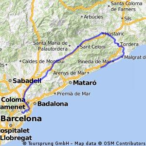 Sant Pol - Sant Celoni - Barca