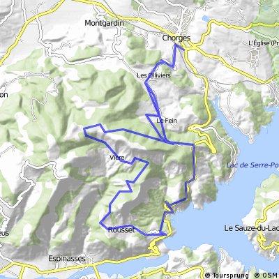gravel bike chorges croix des pré Rousset Chorges