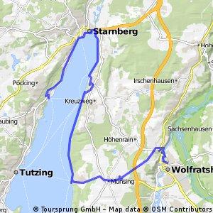 Wolfratshausen - Tutzing