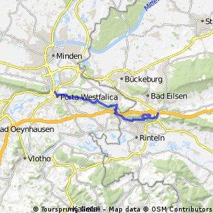Porta-Steinbergen Abstecher Rinteln moeglich