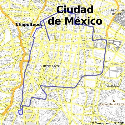 Ángel - Autódromo - Coyoacán - CU - Ángel