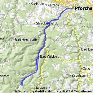Pforzheim - Enzklösterle - Pforzheim