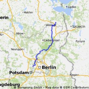 Berlin Spandau bis Pasewalk