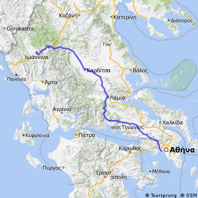 Cycling routes and bike maps in and around Ioannina Bikemap Your