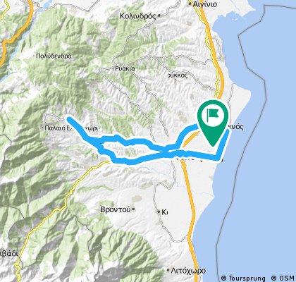 Κορινός-Μοσχοπόταμος-Κατερίνη-Παραλία-Κορινός