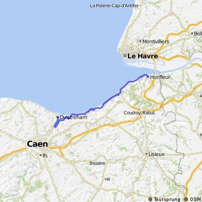 Etape 04 Honfleur-Ouistreham 56Km/+290m