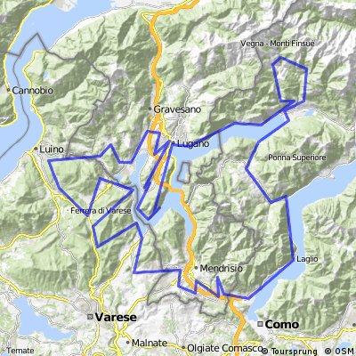 Cycling routes and bike maps in and around Lugano Bikemap Your