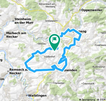 Burgstetten-Backnang-Winnenden-Bittenfeld-Burgstetten