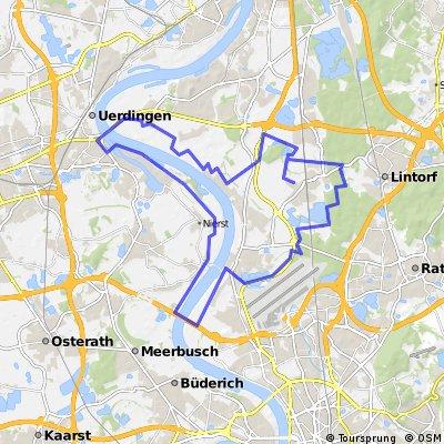 Düsseldorf nach Ratingen Kölner Strasse