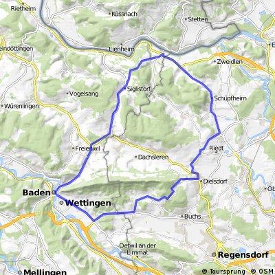 Rundfahrt Dielsdorf - Kaiserstuhl - Baden