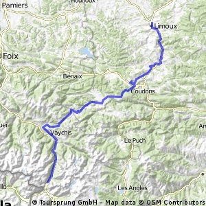 Limoux France Map.Cycling Routes And Bike Maps In And Around Limoux Bikemap Your