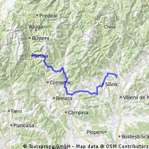 Sinaia - Secaria - Valea Doftanei - Paltinul - Campina