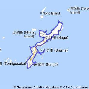 Riding around Okinawa