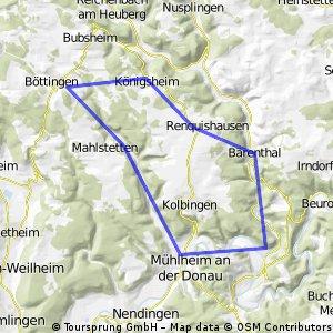 Mühlheim,Mahlstetten,Renquishs,Bärenthal