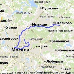 Из Чкаловской в Москву через Лосиный остров