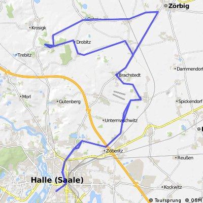 Halle - Zörbig - Petersberg - Halle