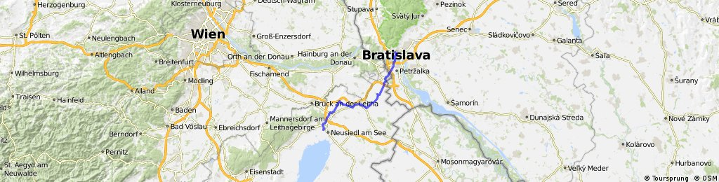 Bratislava - Neusiedl am See cez Parndorf