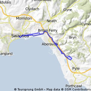 port talbot and margam and lost!