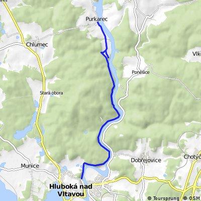 Cyklostezka Hluboká nad Vltavou - Karlův hrádek – Purkarec
