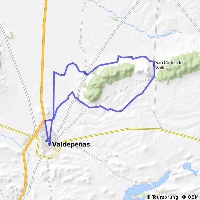 Valdepeñas-El Peral-San Carlos del Valle- Valdepeñas