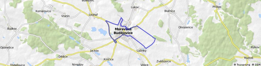 Moravské Budějovice - Mexiko - Obchvat - Moravské Budějovice - Letiště - Lažínky - Ochoz - Moravské Budějovice