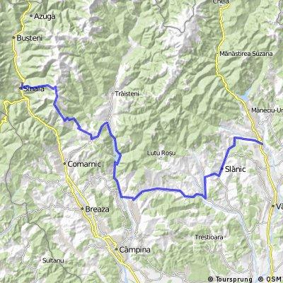 Sinaia - Secaria - Valea Doftanei - Paltinul - Homoraciu