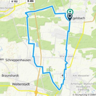 Kleine Runde Egelsbach,Wixhausen,Da-Arheiligen,Gräfenhausen,Bornbruchsee