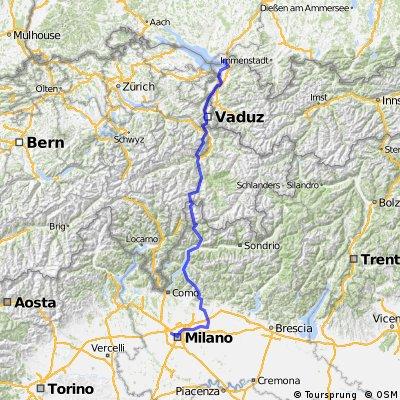 Alpenüberquerung 2015 von gpsies