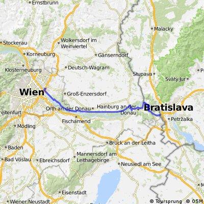EuroVelo 6 - 1 / Viena - Bratislava / Austria - Slovacia