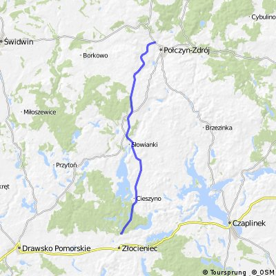 Szlak Zwiniętych Torów. Trasa Rowerowa Złocieniec - Połczyn Zdrój