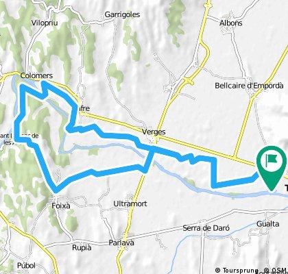 Ullà-Verges-Jafre-Colomers-Sant Llorenç-Foixà-Verges-Ullà