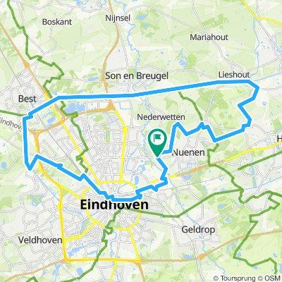 Van Gogh fietsroute Nuenen