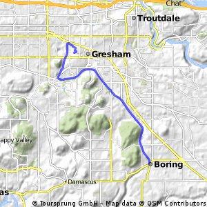 Gresham/Fairview to Boring, OR