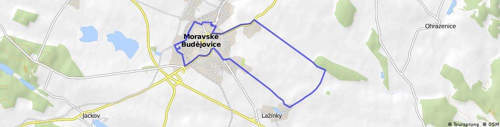 Moravské Budějovice - Ochoz - Lažínky - Moravské Budějovice
