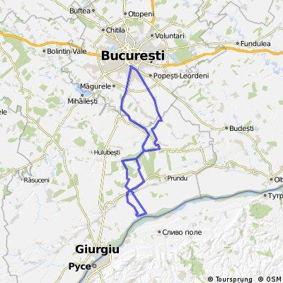 Bucuresti - Gostinu (prin Comana)