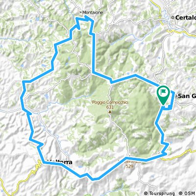 78km San Gimignano - Montaione . Volterra Rundkurs