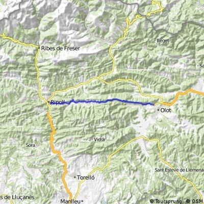 Cycling the Alps Alt de Coubet (1031m)