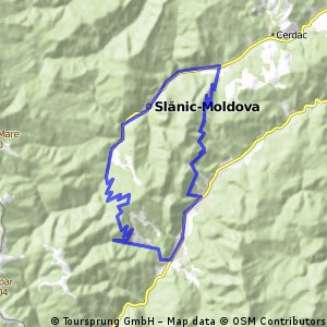 Slanic Moldova - Poiana Sarata si retur pe dealuri