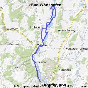 Wertachradlweg von Stockheim nach Kaufbeuren und zurück