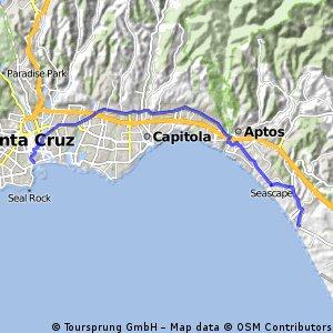 Manresa Beach to Santa Cruz Beach Boardwalk