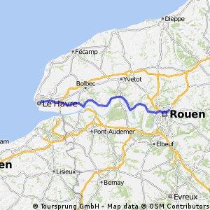 Rouen - le Havre // mardi pour une expo CLONED FROM ROUTE 475269
