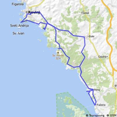 Rovinj - Fasana und zurück, eine Küstentour