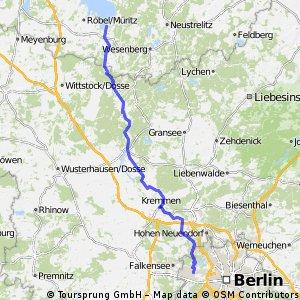 Dörferroute Müritz Berlin